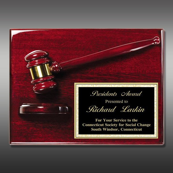 Gavel Plaque - Rosewood Piano MAGP-40