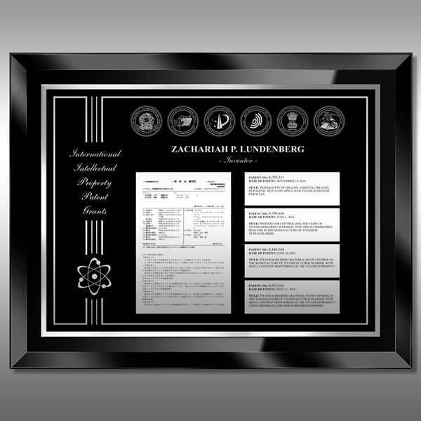 Patent Plaque - 5th Glass Black BG5-B15M