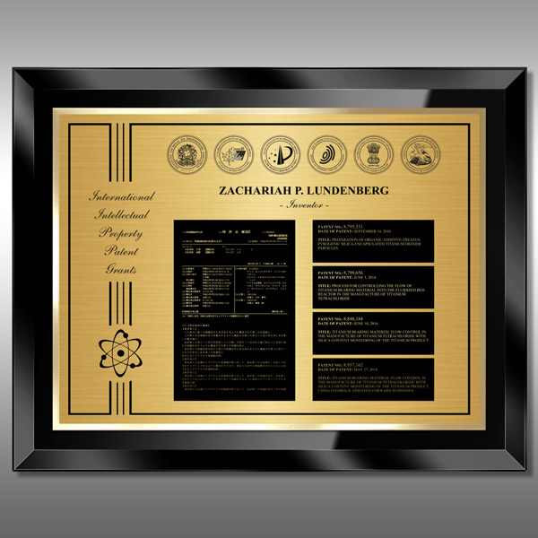 Patent Plaque - 5th Glass Black BG5-EG15M