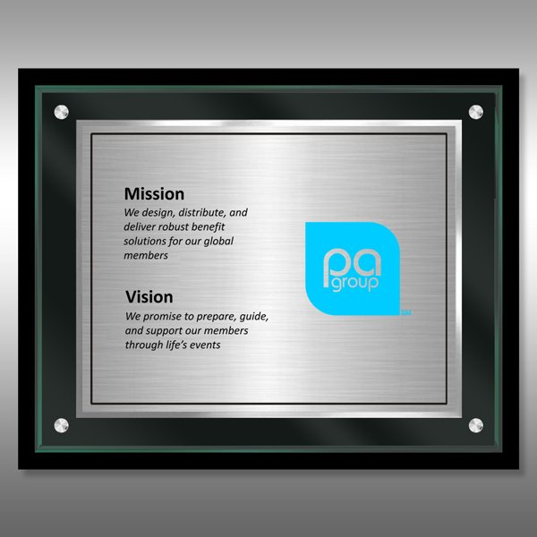 Mission Statement Plaque - TransLucite® JB2-MS15