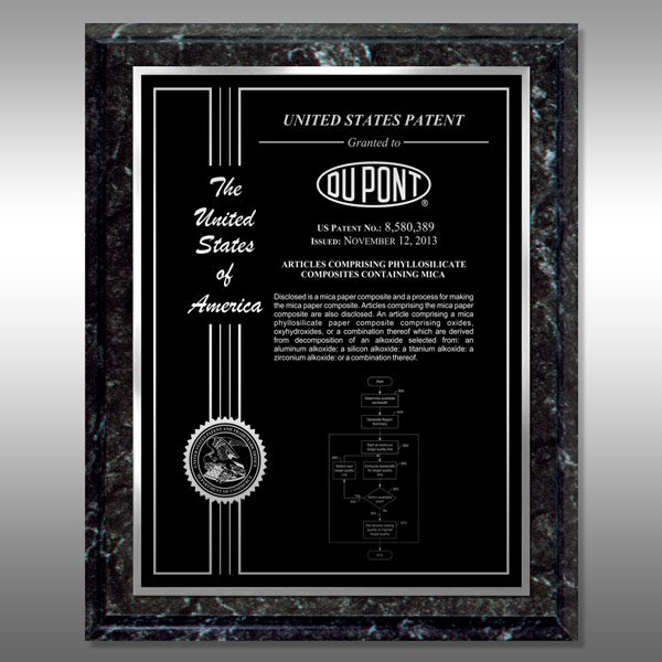 Patent Plaque - Marble Finish MF-BS12