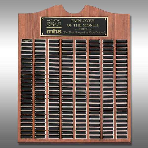 Perpetual Plaque - Walnut 60-Plate TP-PP556