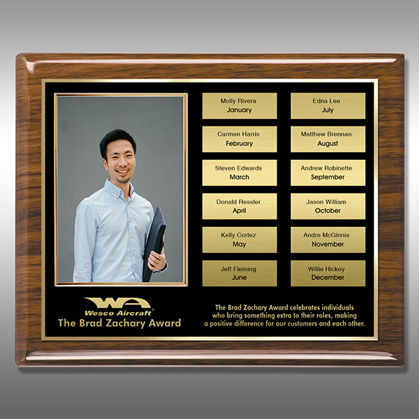 Perpetual Plaque - Walnut Piano Photo PPP-EG12W