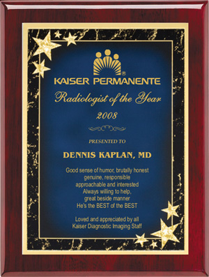 Corporate Plaque - Starburst RW-SB-P79