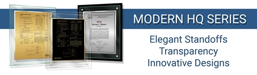 Modern HQ Patent Plaque Series