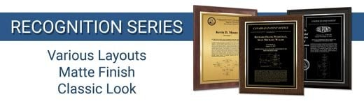 Recognition Patent Plaque Series