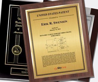 Wood Patent Plaque